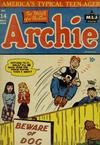 Cover for Archie Comics (Archie, 1942 series) #14
