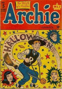 Cover Thumbnail for Archie Comics (Archie, 1942 series) #5