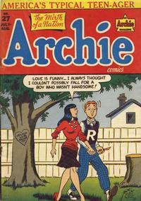 Cover Thumbnail for Archie Comics (Archie, 1942 series) #27