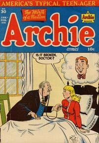 Cover Thumbnail for Archie Comics (Archie, 1942 series) #30