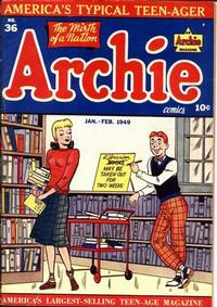 Cover Thumbnail for Archie Comics (Archie, 1942 series) #36