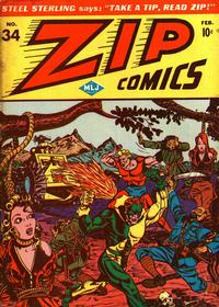 Cover Thumbnail for Zip Comics (Archie, 1940 series) #34