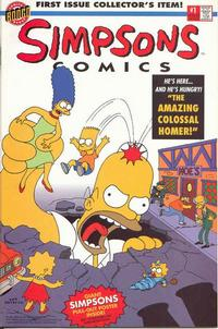 Cover for Simpsons Comics (Bongo, 1993 series) #1 [Poster Edition]