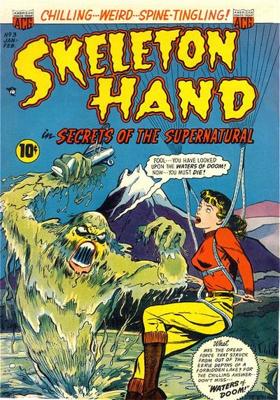 Cover for Skeleton Hand in Secrets of the Supernatural (American Comics Group, 1952 series) #3