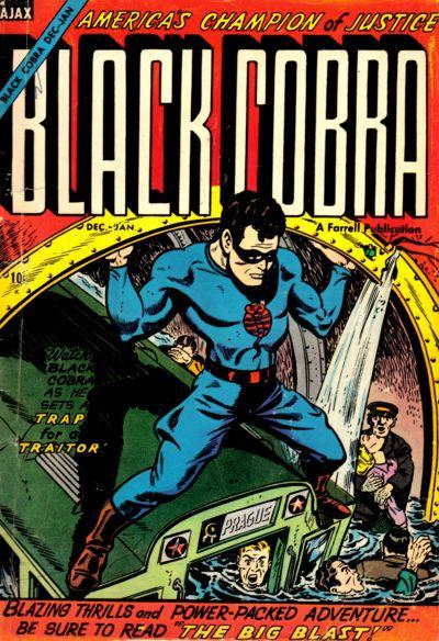 Cover for Black Cobra (Farrell, 1954 series) #6 [2]