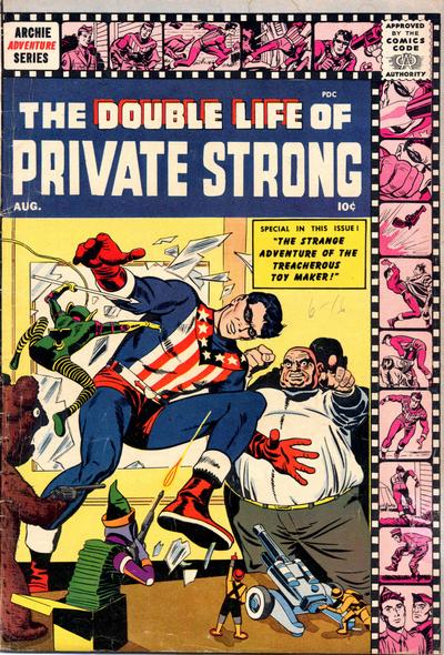 Cover for The Double Life of Private Strong (Archie, 1959 series) #2