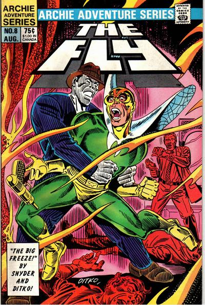 Cover for The Fly (Archie, 1983 series) #8 [Newsstand]