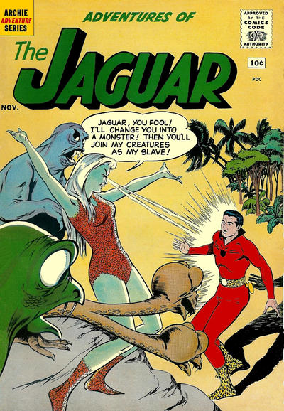 Cover for Adventures of the Jaguar (Archie, 1961 series) #3