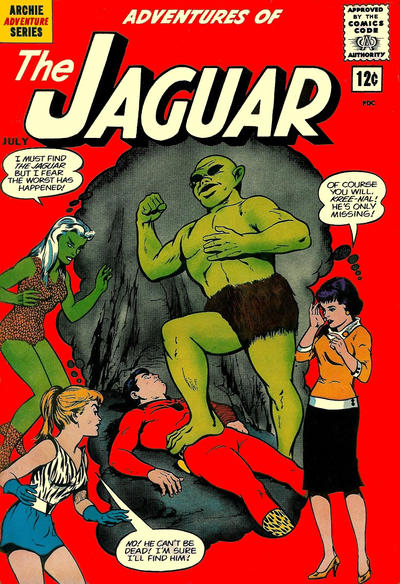 Cover for Adventures of the Jaguar (Archie, 1961 series) #7