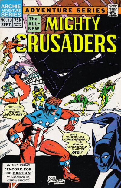 Cover for The Mighty Crusaders (Archie, 1983 series) #13