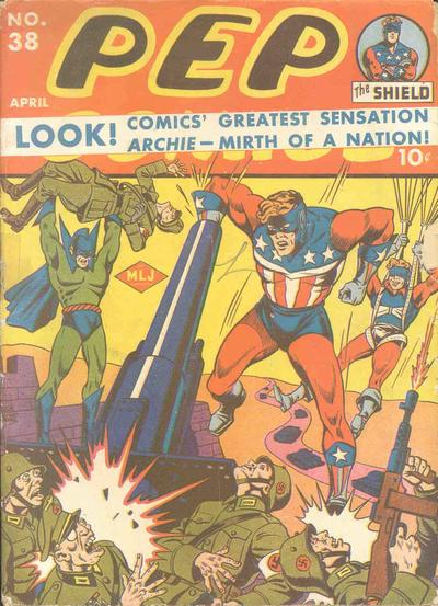 Cover for Pep Comics (Archie, 1940 series) #38