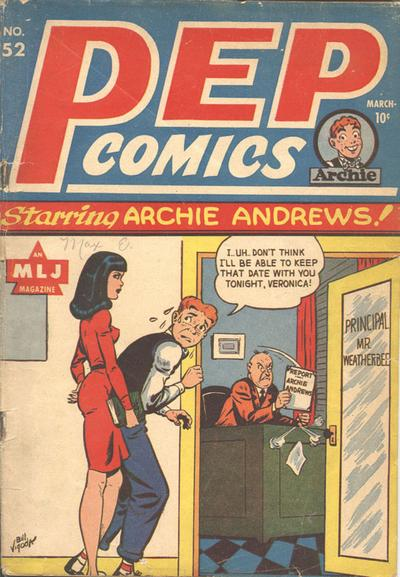 Cover for Pep Comics (Archie, 1940 series) #52
