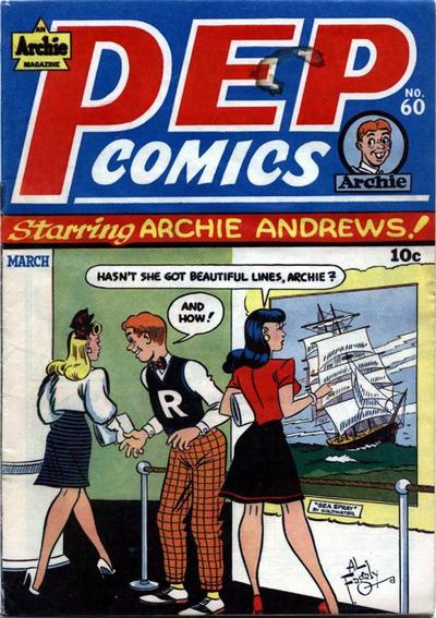 Cover for Pep Comics (Archie, 1940 series) #60