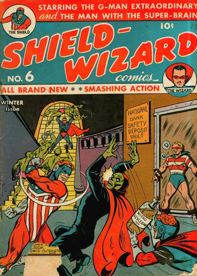 Cover for Shield-Wizard Comics (Archie, 1940 series) #6