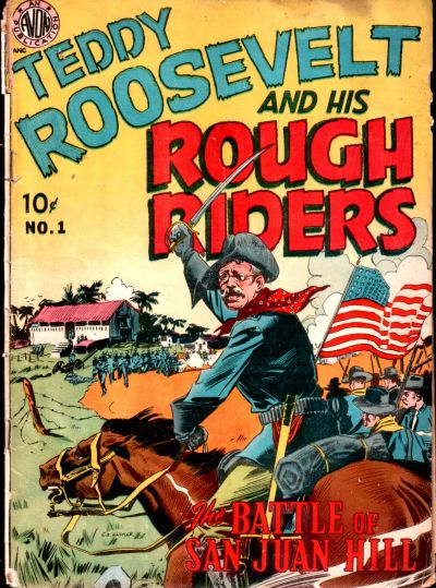 Cover for Teddy Roosevelt and His Rough Riders (Avon, 1950 series) #1