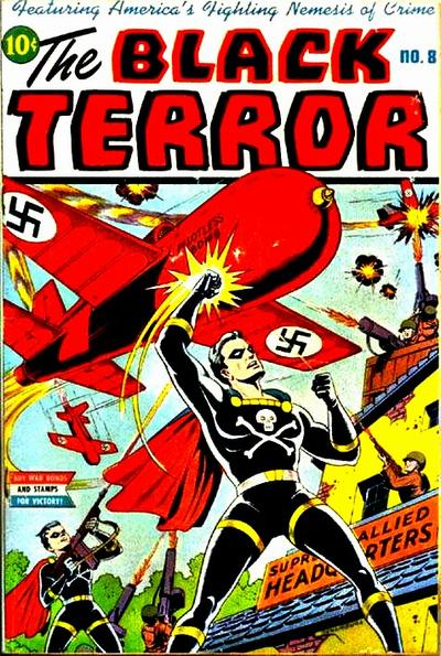 Cover for The Black Terror (Pines, 1942 series) #8