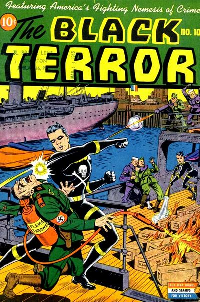 Cover for The Black Terror (Pines, 1942 series) #10