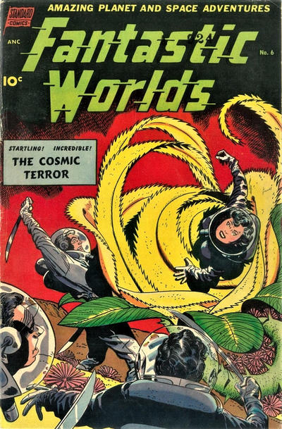 Cover for Fantastic Worlds (Pines, 1952 series) #6