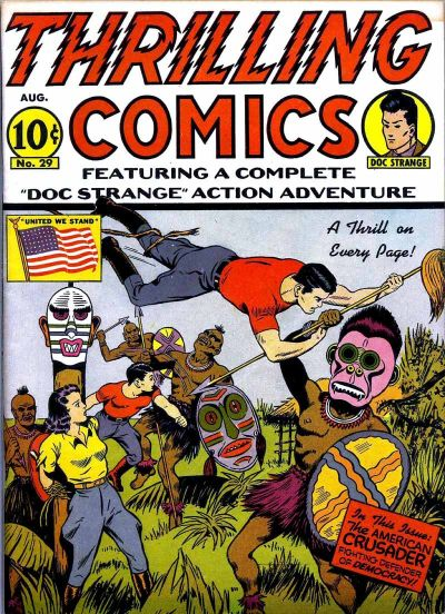 Cover for Thrilling Comics (Pines, 1940 series) #v10#2 (29)