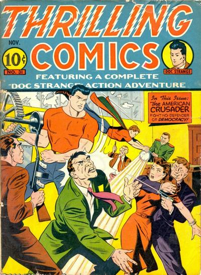 Cover for Thrilling Comics (Pines, 1940 series) #31