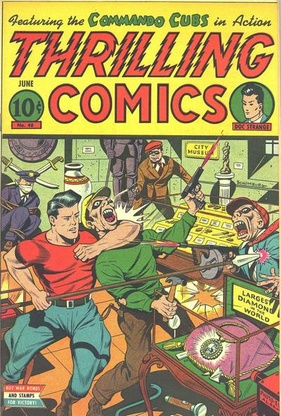 Cover for Thrilling Comics (Pines, 1940 series) #48