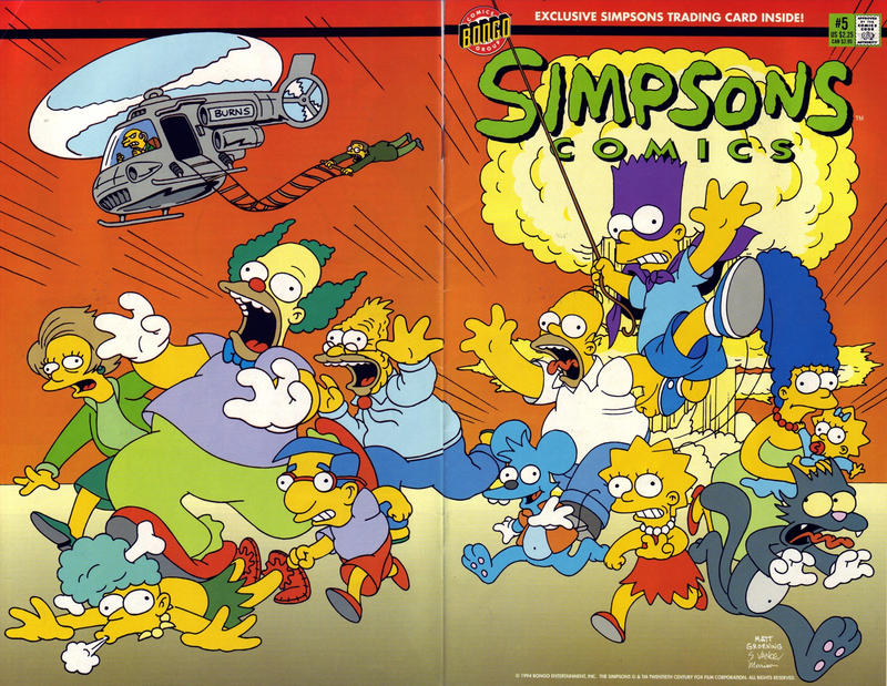 Cover for Simpsons Comics (Bongo, 1993 series) #5