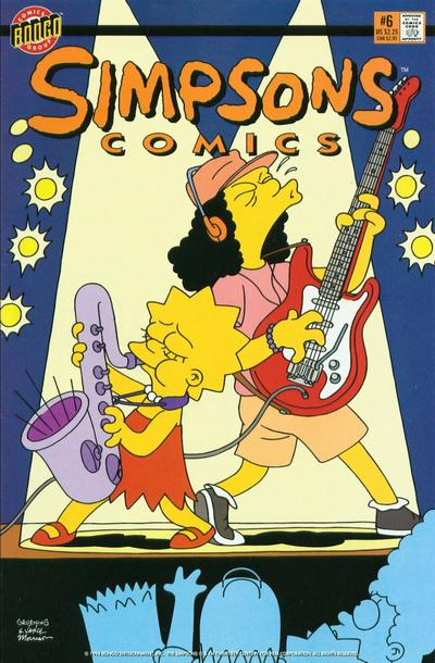 Cover for Simpsons Comics (Bongo, 1993 series) #6