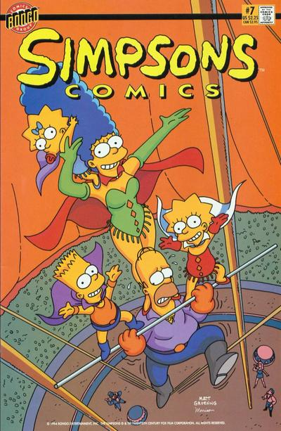 Cover for Simpsons Comics (Bongo, 1993 series) #7