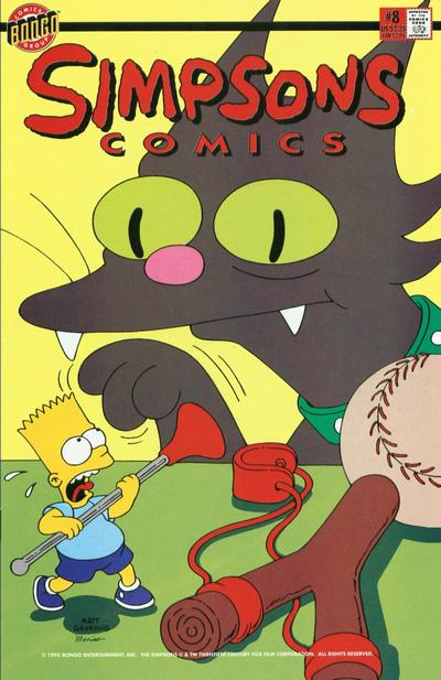 Cover for Simpsons Comics (Bongo, 1993 series) #8