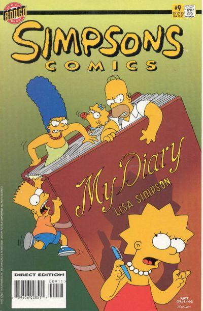 Cover for Simpsons Comics (Bongo, 1993 series) #9