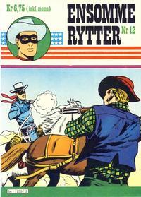 Cover Thumbnail for Ensomme Rytter (Hjemmet / Egmont, 1977 series) #12