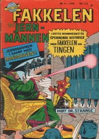 Cover Thumbnail for Fakkelen og jernmannen (Serieforlaget / Se-Bladene / Stabenfeldt, 1968 series) #4/1968
