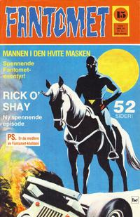 Cover for Fantomet (Nordisk Forlag, 1973 series) #15/1974