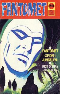 Cover Thumbnail for Fantomet (Nordisk Forlag, 1973 series) #20/1975