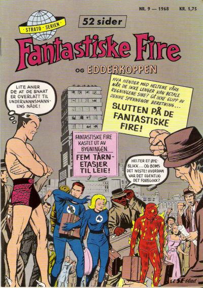 Cover for Fantastiske Fire og Edderkoppen (Serieforlaget / Se-Bladene / Stabenfeldt, 1968 series) #9/1968