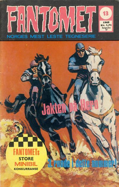 Cover for Fantomet (Romanforlaget, 1966 series) #13/1969