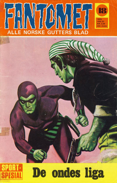 Cover for Fantomet (Romanforlaget, 1966 series) #18/1970