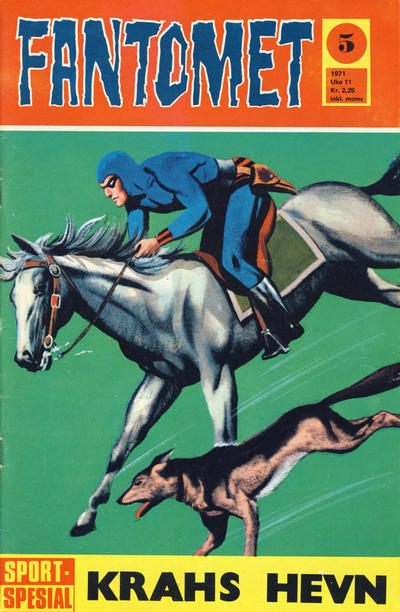 Cover for Fantomet (Romanforlaget, 1966 series) #5/1971