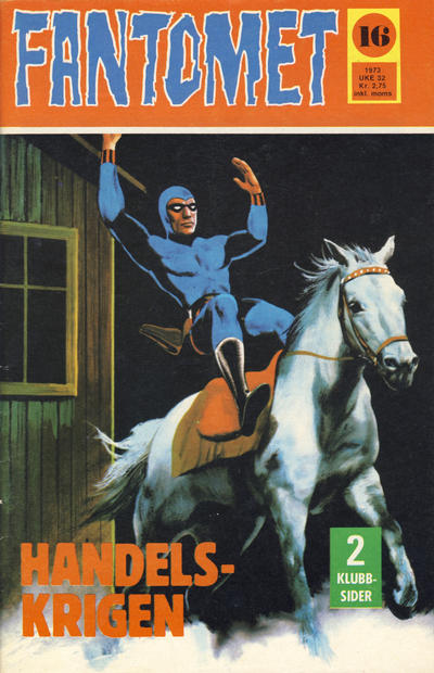 Cover for Fantomet (Nordisk Forlag, 1973 series) #16/1973