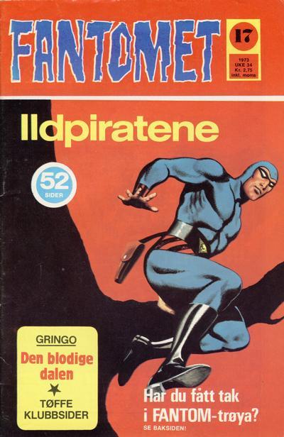 Cover for Fantomet (Nordisk Forlag, 1973 series) #17/1973