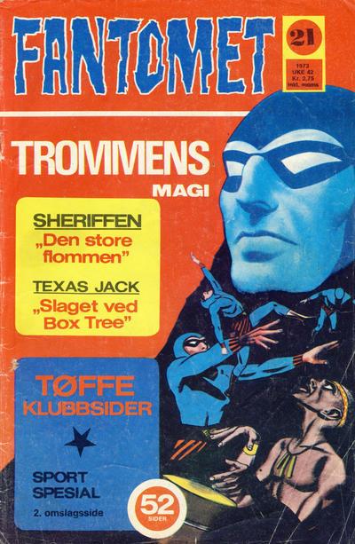 Cover for Fantomet (Nordisk Forlag, 1973 series) #21/1973