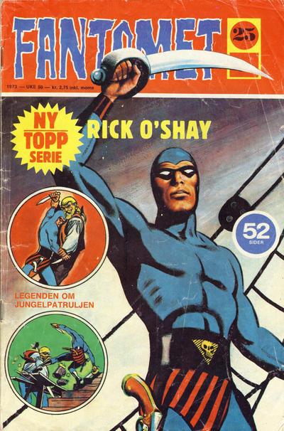 Cover for Fantomet (Nordisk Forlag, 1973 series) #25/1973
