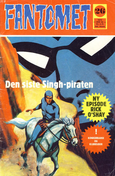 Cover for Fantomet (Nordisk Forlag, 1973 series) #26/1973