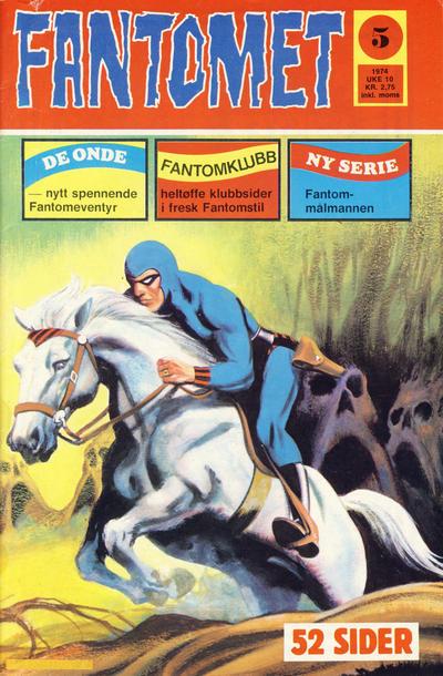 Cover for Fantomet (Nordisk Forlag, 1973 series) #5/1974