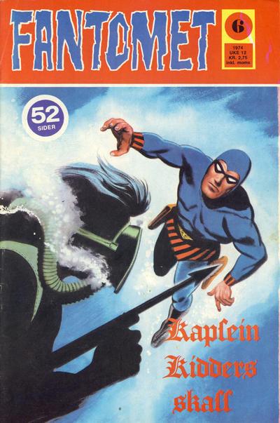 Cover for Fantomet (Nordisk Forlag, 1973 series) #6/1974
