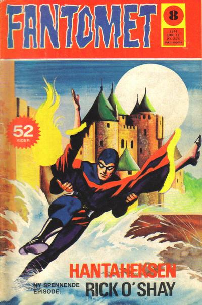Cover for Fantomet (Nordisk Forlag, 1973 series) #8/1974