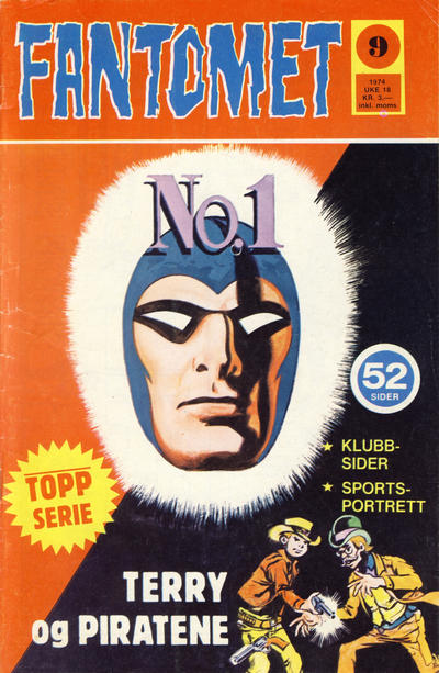 Cover for Fantomet (Nordisk Forlag, 1973 series) #9/1974