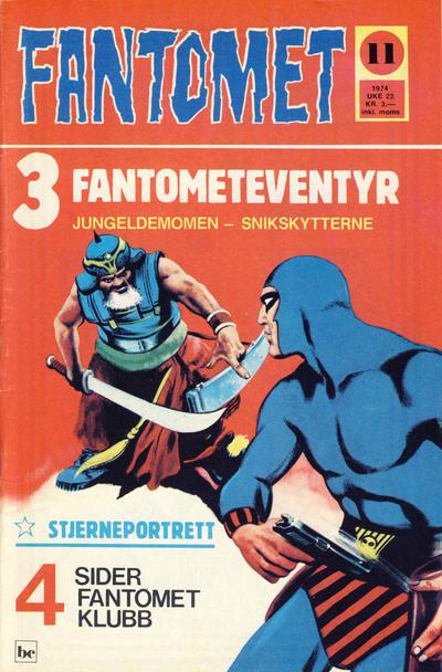 Cover for Fantomet (Nordisk Forlag, 1973 series) #11/1974