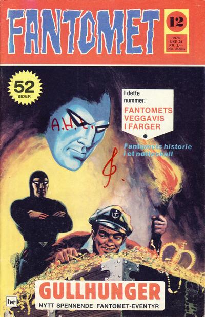 Cover for Fantomet (Nordisk Forlag, 1973 series) #12/1974