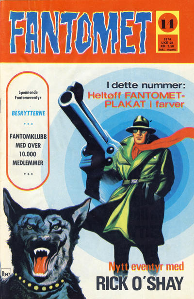 Cover for Fantomet (Nordisk Forlag, 1973 series) #14/1974